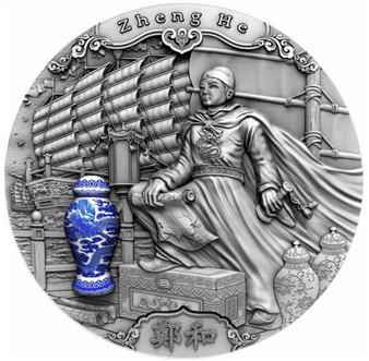 ZHENG HE Famous Explorers 2 oz Silver Coin $5 Niue 2020