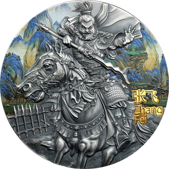 ZHANG FEI Warriors of Ancient China 3 oz Silver Coin $5 Niue 2020