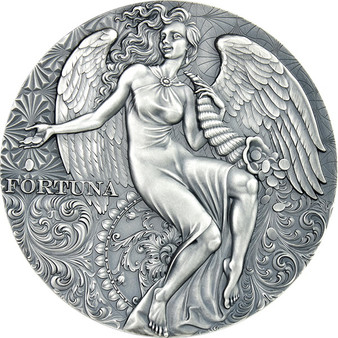 FORTUNA 2 oz Silver Antique Finish Coin Cameroon 2021