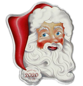 HOLIDAY SANTA 1 oz Silver Coin $2 Solomon Islands 2020