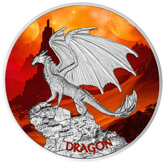 DRAGON 1.05 oz Silver Proof Coin 2020 Niue