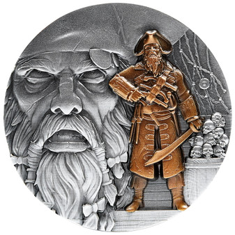 BLACKBEARD Pirates Ahoy Series – 2 oz Silver Coin 2021 Chad