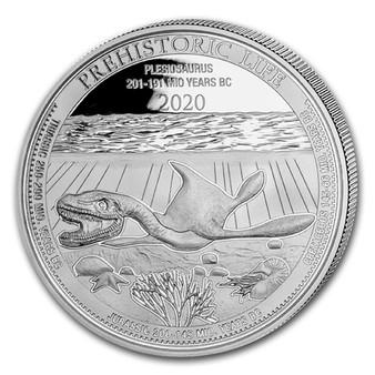 PLESIOSAURUS 1 oz Silver Coin 20 Francs 2020 Congo
