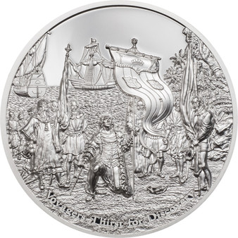 VOYAGERS THIRST FOR DISCOVERY Then And Now 2 oz Silver Coin Cook Islands 2021