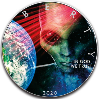 ALIEN EARTH 1 oz Silver Eagle Silver Colorized Coin USA 2020