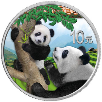 PANDA 30g Silver Color Coin China 2021