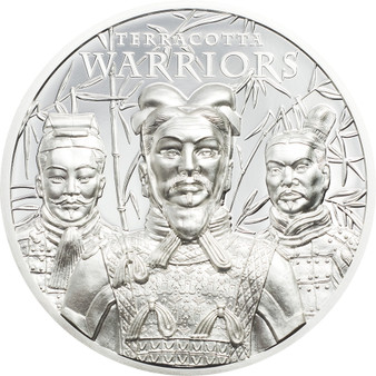TERRACOTTA WARRIORS 1 oz Silver Coin $5 Cook Islands 2021