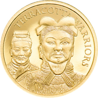 TERRACOTTA WARRIORS Gold Coin Cook Islands 2021