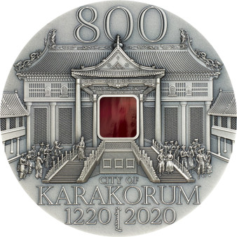 KARAKORUM 800th Anniversary 2 oz Silver Coin Mongolia 2020