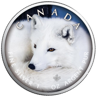 POLAR FOX Canada's Wildlife Maple Leaf 1 oz. Silver Coin Canada 2021