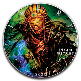 MUMMY PHARAOH Skeleton 1 oz. Silver Eagle Color Coin USA 2020