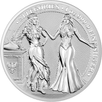 ITALIA & GERMANIA 2020 – The Allegories 5 Mark 1 OZ Pure Silver