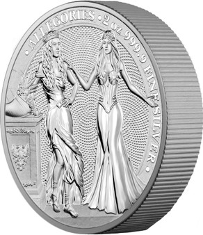 ITALIA & GERMANIA 2020 – The Allegories 10 Mark 2 OZ Pure Silver