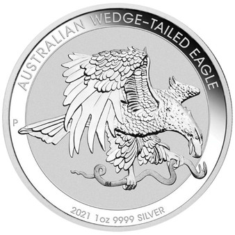 WEDGE TAILED EAGLE 1 oz Silver $1 Coin Australia 2021