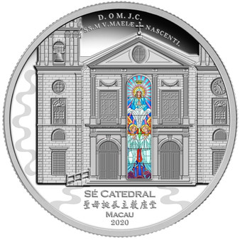 Sé CATHEDRAL  of MACAU  3 Oz Silver Proof  Coin Solomon Islands 2020