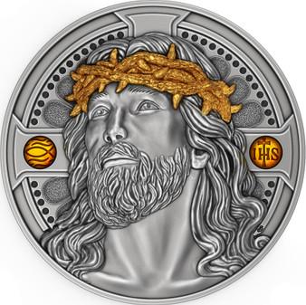 JESUS CHRIST Savior 2 Oz Silver Coin 2000 Francs Cameroon 2021