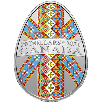 TRADITIONAL PYSANKA – $20 Silver Proof Coin Canada 2021