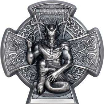 CERNUNNOS Horned God 3 Oz Silver Coin Isle of Man 2021