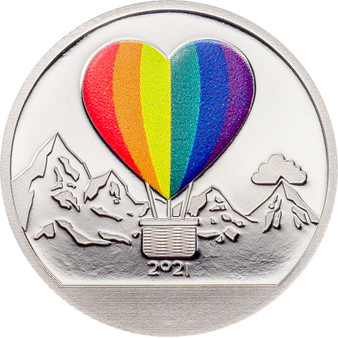 LOVE Snow Globes Silver Coin $1 Cook Islands 2021