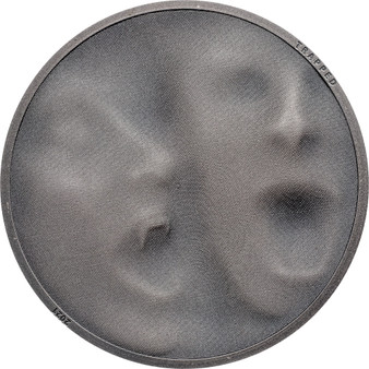 TRAP ATTACK  1 oz Antique finish Silver Coin $5 Cook Islands 2021