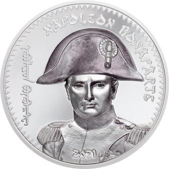 NAPOLEON BONAPARTE 1 Oz Silver Coin 1000 Togrog Mongolia 2021