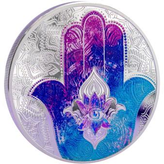 HAND OF HAMSA Fatima 1 Oz Silver Coin 5$ Palau 2021