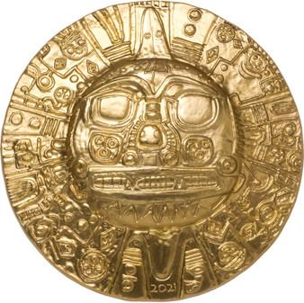 INCA Sun God 1 Oz Silver Gilded Coin $5 Palau 2021