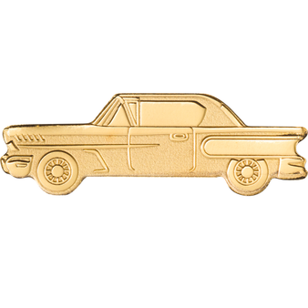 Golden CLASSIC CAR  0.5 g  Gold Coin $1 Cook Islands 2021