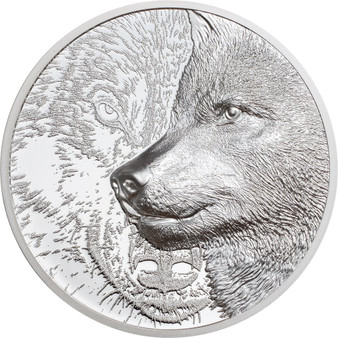 MYSTIC WOLF 1 oz Silver Proof Coin 500 Togrog Mongolia 202