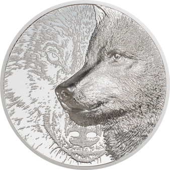 MYSTIC WOLF 3 oz Silver Proof Coin 2000 Togrog Mongolia 2021