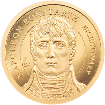 200th Anniversary NAPOLEON 0.5 g Gold Proof Coin Saint Helena 2021