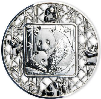 FILIGREE PANDAS 2 oz Silver Proof-Like Coin $5 Solomon Islands 2021