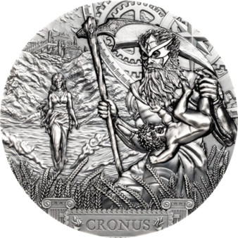 CRONUS Titans 3 oz Silver Coin $20 Cook Islands 2021
