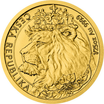 CZECH LION 1/25 oz Gold Coin Niue 2021
