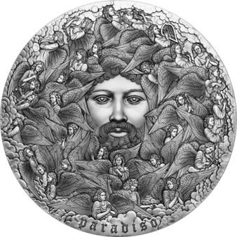 PARADISO Dante 700th Ann. 5 Oz Silver Coin 5000 CFA Cameroon 2021