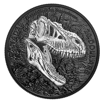 REAPER OF DEATH Discovering Dinosaurs 1 oz Silver Coin Canada 2021