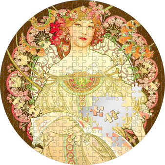 REVERIE By Mucha Micropuzzle Treasures 3 oz Silver Coin $20 Palau 2021