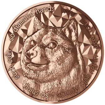 DOGE COIN – 1 oz    .999 Pure Copper Bullion 2021