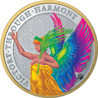 The Queen's Virtues - Victory 1 oz Rainbow St. Helena 2021