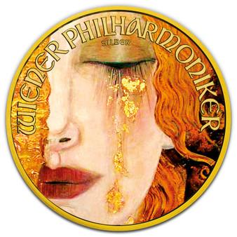 The GOLDEN TEARS Gustav Klimt Silver Gilded Coin 1 oz 2021