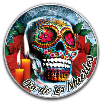 DIAS DE MUERTOS ICE SKULL Libertad 1 oz Silver Coin Mexico 2020