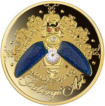 BEETLE WATCH - FABERGE 1oz Silver Proof Swarovski Coin Niue 2021