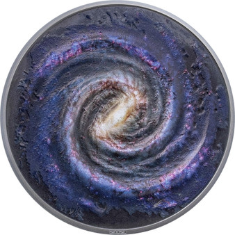 MILKY WAY Space Final Frontier 3 Oz Silver Coin $20 Palau 2021