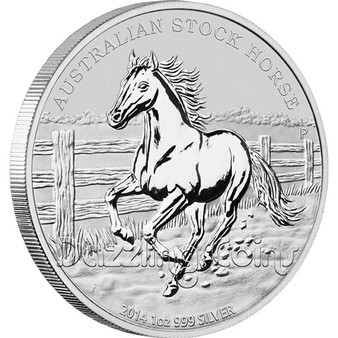 2014 1 oz Silver Coin - Australian Stock Horse Perth Mint