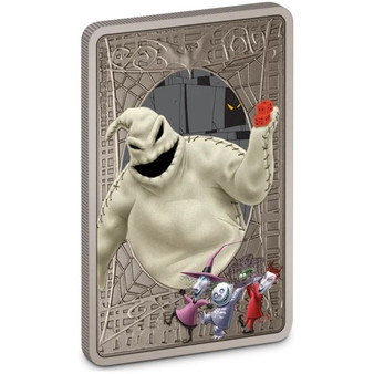 THE NIGHTMARE BEFORE CHRISTMAS OOGIE BOOGIE 1 oz Silver Antiqued Coin Niue 2021