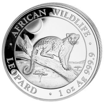 LEOPARD African Wildlife 1 oz Silver Coin Somalia 2021