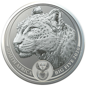 LEOPARD BIG FIVE 5 Rand 1 oz Silver Coin in Blistercard