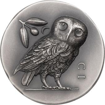 OWL of ATHENA Ultra High Relief 1 oz Silver Coin Cook Islands 2021