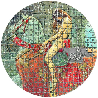 LADY GODIVA by John Collier Puzzle Art 3 oz Silver Coin Cameroon 2020