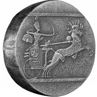 CHARIOT of WAR Egyptian Relic 5 oz Silver Antique Coin Chad 2020